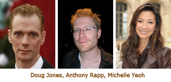 Doug Jones, Anthony Rapp, Michelle Yeoh