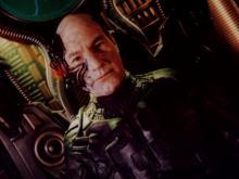 Captain Picard as Borg Locutus